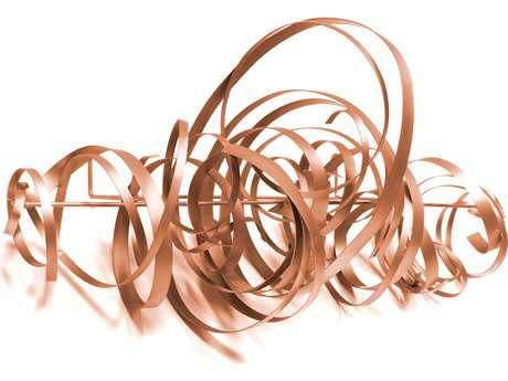 Moe's Home Collection Spirals Rose Gold Wall Art