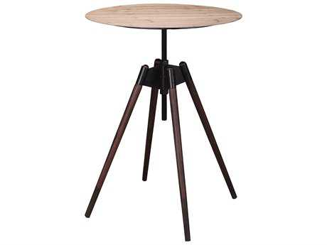 Moe's Home Collection Cascade 30'' Round Natural Adjustable Bar/Counter Height Table
