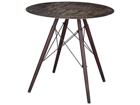 Moe's Home Collection Hetfield 31.5'' Round Dark Grey Cafe Table