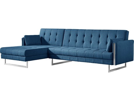 Moe's Home Collection Palomino Blue Left Sofa Bed