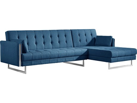 Moe's Home Collection Palomino Blue Right Sofa Bed