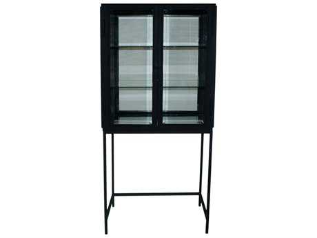 Moe's Home Collection Salvador Black Two Door Cabinet with Stand