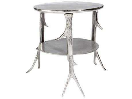 Moe's Home Collection Sprig 20'' Round Silver End Table