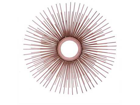 Moe's Home Collection Porcupine Gold Small 18'' x 18'' Round Wall Mirror