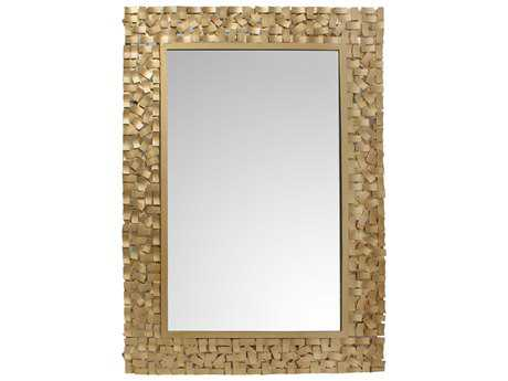 Moe's Home Collection Pastiche 40'' x 55.5'' Rectangular Gold Wall Mirror