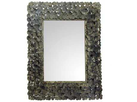 Moe's Home Collection Moon Shadow 34'' x 40'' Rectangular Antique Wall Mirror
