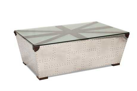 Moe's Home Collection York 48 x 30 Rectangular Silver Coffee Table
