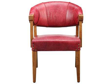 Moe's Home Collection Theodore Red Leather Accent Chair