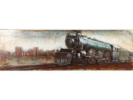 Moe's Home Collection Vintage Locomotive Wall Decor MEPR100837