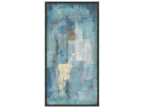 Moe's Home Collection Indigo Wall Painting with Frame MERE113737