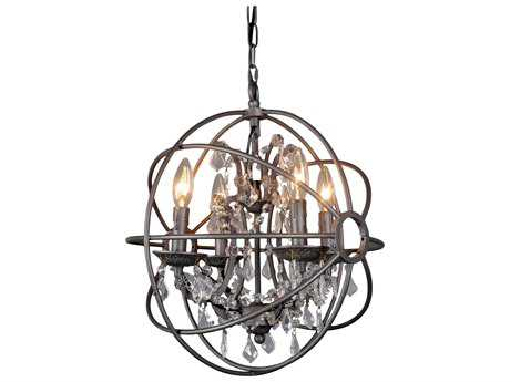 Moe's Home Collection Adelina Four-Light 16'' Wide Chinese Crystal Mini-Chandelier