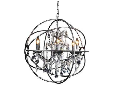 Moe's Home Collection Adelina Six-Light 26'' Wide Crystal Chandelier