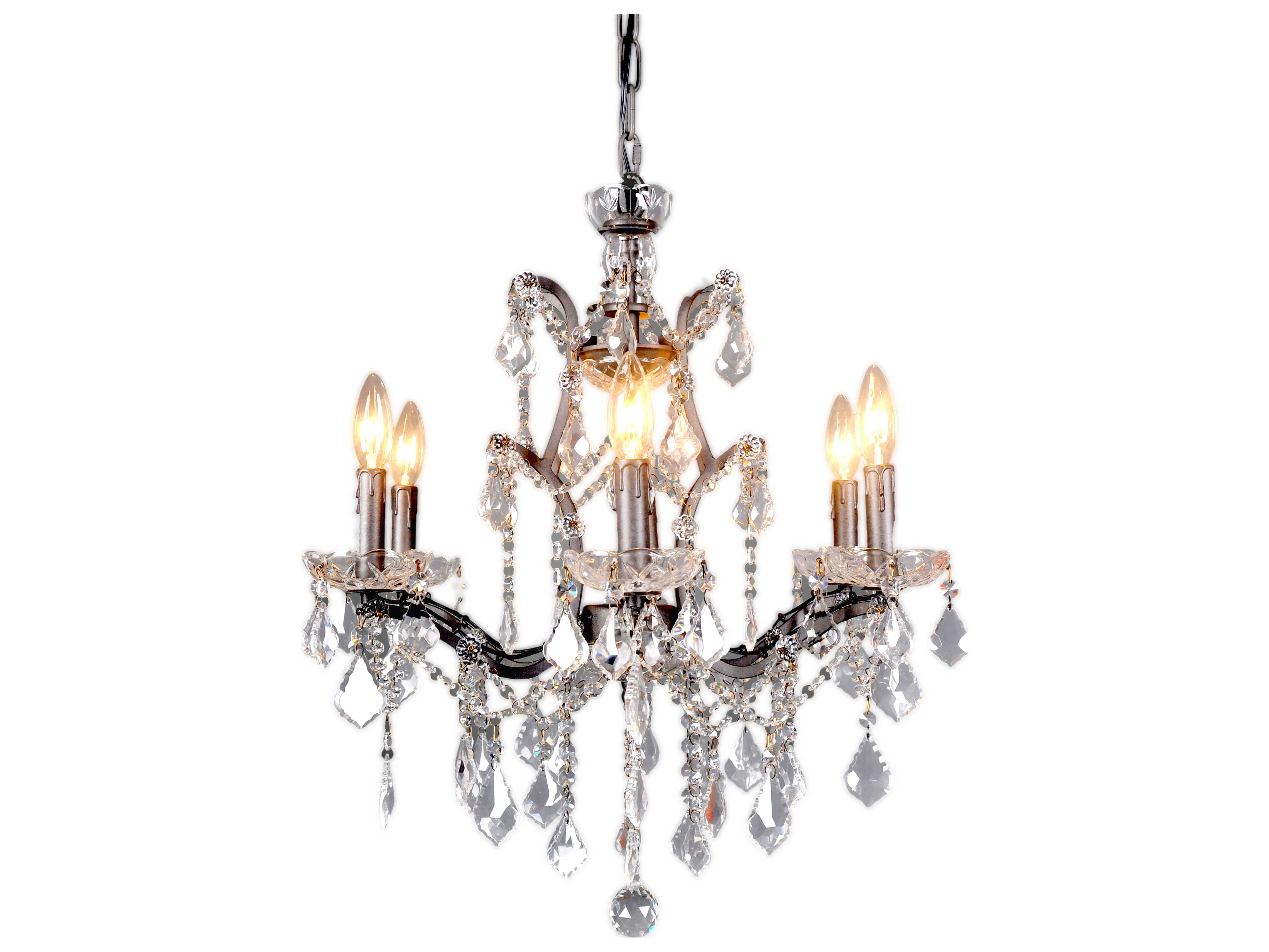 Moe 39 S Home Collection Luisa Six Light 21 39 39 Wide Chinese Crystal Chandelier Merm101417