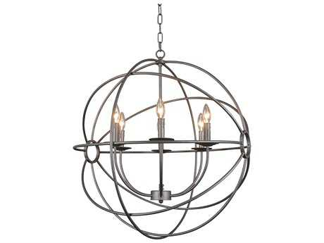 Moe's Home Collection Rossana Six-Light 26'' Wide Brown Chandelier