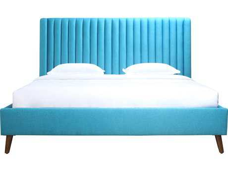 Moe's Home Collection Camilla Blue King Panel Bed