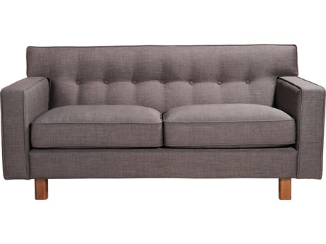 Moe's Home Collection Martyn Charcoal Two-Seater Sofa