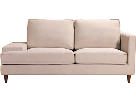 Moe's Home Collection Hughes Cream Two-Seater Sofa