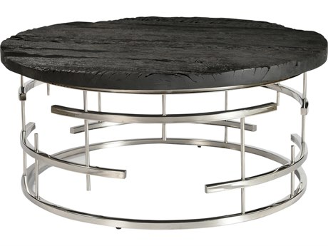 Moe's Home Collection Morpheus Charcoal 34'' Round Coffee Table
