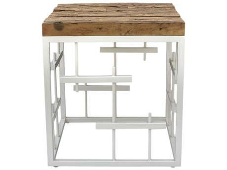 Moe's Home Collection Holter White 17.5'' Square Side Table