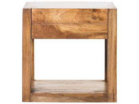 Moe's Home Collection Anton 19'' x 17.5'' Rectangular Natural Nightstand with Drawer and Shelf