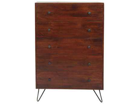 Moe's Home Collection Bronson 36'' x 20'' Brown Five Drawer Chest
