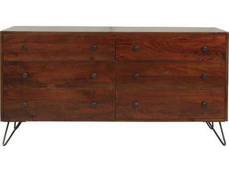 Moe's Home Collection Bronson Six Drawer Brown Dresser
