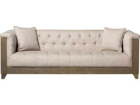 Moe's Home Collection Marseille White Sofa