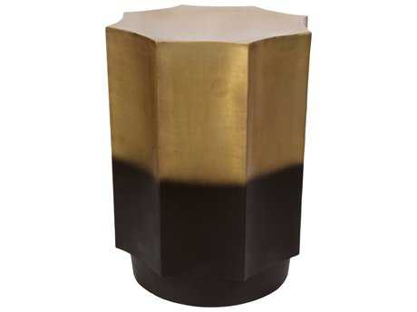 Moe's Home Collection Markus 16'' x 16'' Octagon Gold Side Table