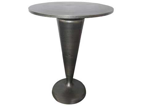 Moe's Home Collection Gunther 17.5'' Round Dark Grey Side Table