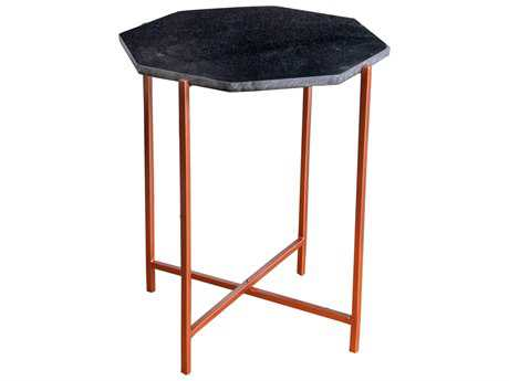 Moe's Home Collection Octavia 21'' x 20'' Black Side Table