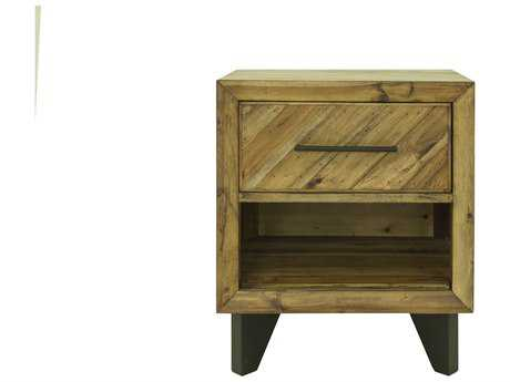 Moe's Home Collection 22'' x 17'' Parq Acacia Wood Rectangular Nightstand