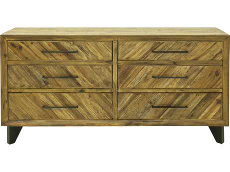 Moe's Home Collection Parq Low Six Drawer Double Dresser