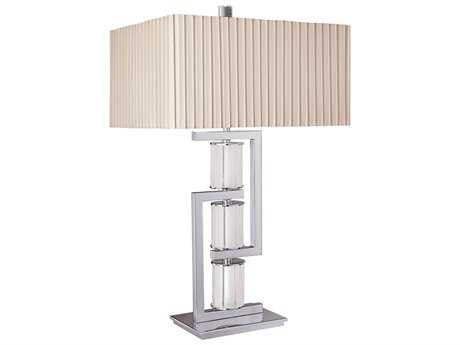 Metropolitan Lighting Neverland Chrome with Frosted Glass Table Lamp