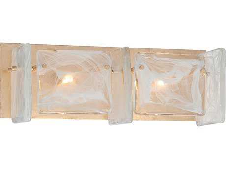 Metropolitan Lighting Arctic Frost Antique French Gold Two-Lights Vanity Light