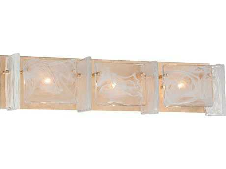 Metropolitan Lighting Arctic Frost Antique French Gold Three-Lights Vanity Light