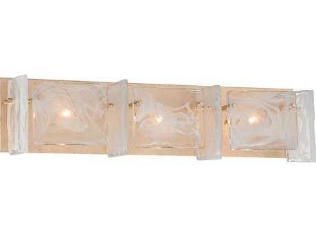 Metropolitan Lighting Arctic Frost Antique French Gold Three-Lights Vanity Light