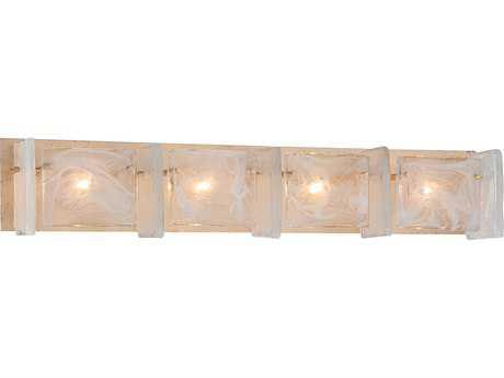 Metropolitan Lighting Arctic Frost Antique French Gold Four-Lights Vanity Light
