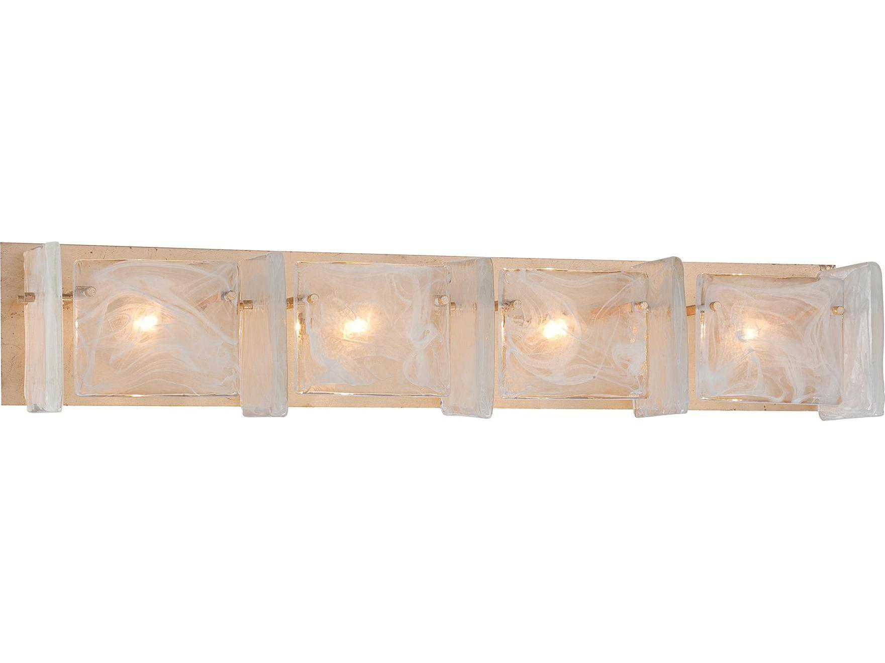 Metropolitan Lighting Arctic Frost Antique French Gold Four-Lights Vanity Light METN1784595