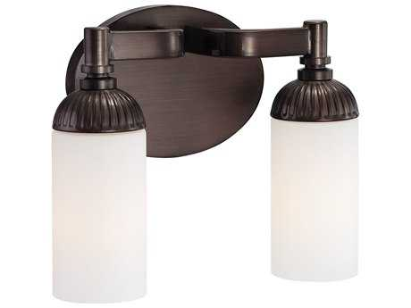 Metropolitan Lighting Industrial Industrial Bronze Two-Lights Vanity Light