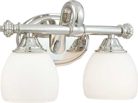 Metropolitan Lighting Polished Nickel Two-Lights Vanity Light