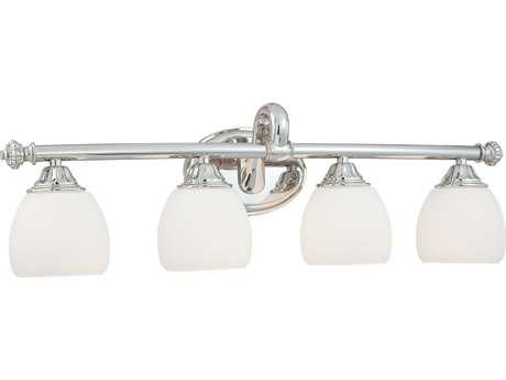 Metropolitan Lighting Polished Nickel Four-Lights Vanity Light