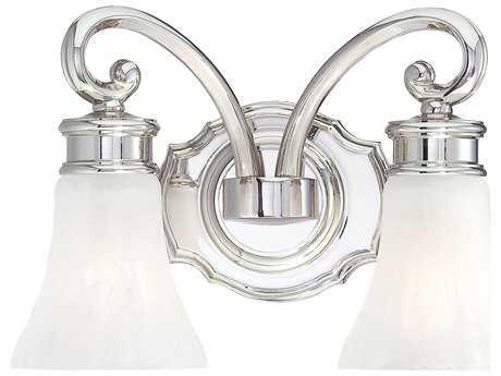 Metropolitan Lighting Polished Nickel Two-Lights Vanity Light