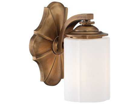 Metropolitan Lighting Leicester Aged Brass Vanity Light