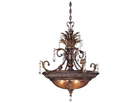 Metropolitan Lighting Sanguesa Patina Three-Lights 25.5'' Wide Pendant Light