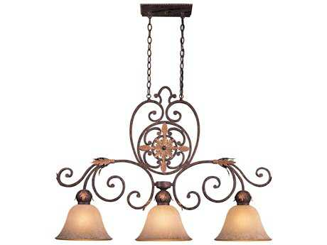 Metropolitan Lighting Zaragoza Golden Bronze Three-Lights 44.5'' Long Island Light