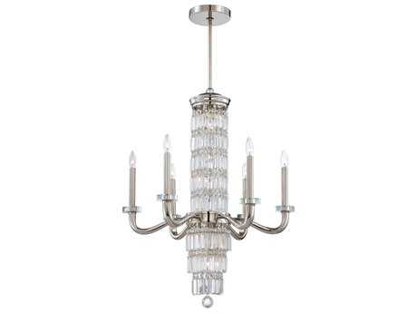 Metropolitan Lighting Crysalyn Falls Polished Nickel 12-Lights 28'' Wide Chandelier