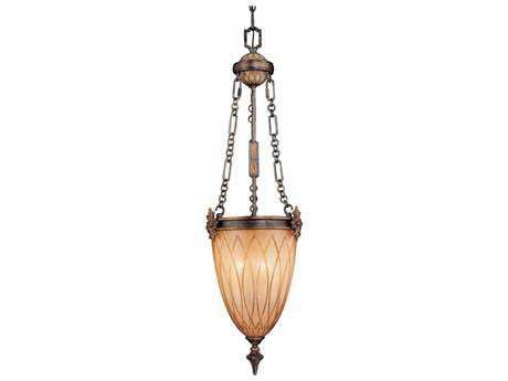Metropolitan Lighting Terraza Villa Aged Patina with Gold Leaf Accents Three-Lights 13'' Wide Pendant Light