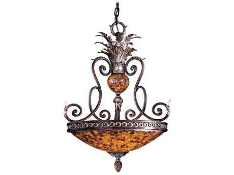 Metropolitan Lighting Salamanca Cattera Bronze Three-Lights 23'' Wide Pendant Light