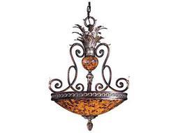 Metropolitan Lighting Salamanca Cattera Bronze Three-Lights 23'' Wide Pendant Light