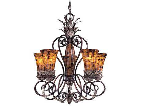 Metropolitan Lighting Salamanca Cattera Bronze Five-Lights 28.5'' Wide Chandelier